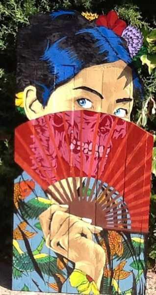 Japonesa y calavera